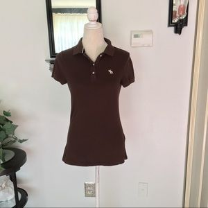 Abercrombie & Fitch Brown Polo Top